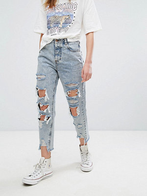 Jeans - Pull&Bear Bleached Super Distressed Mom Jeans