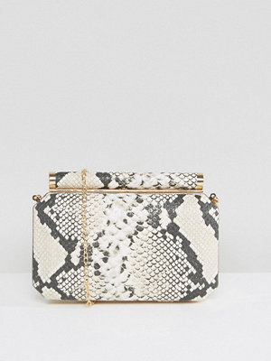 True Decadence kuvertväska Faux Snake Box Clutch Bag