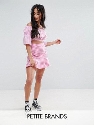 Parisian Petite Gingham Pep Hem Skirt