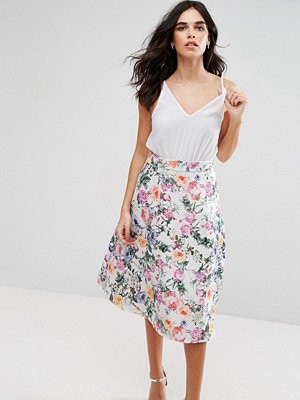 Ax Paris 2-In-1 Skater Midi Dress With Floral Skirt