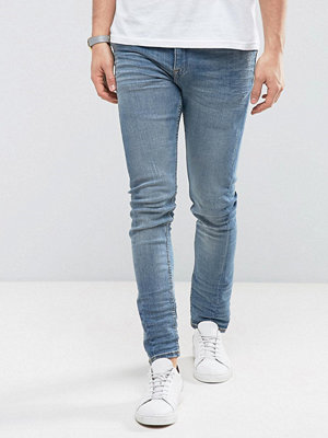 New Look Skinny Jeans In Light Wash Blue