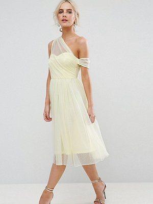 ASOS Petite Dobby Mesh One Shoulder Prom Dress