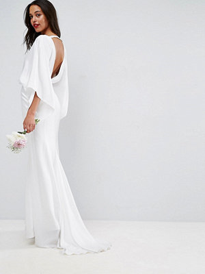 ASOS Edition deep plunge back maxi wedding dress