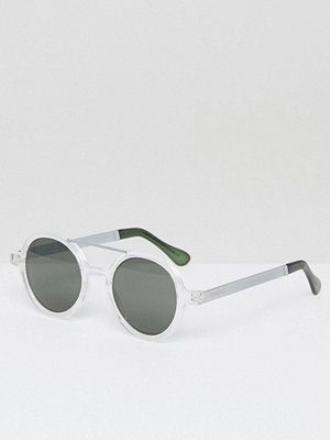 Solglasögon - Komono Vivien Round Sunglasses with Double Brow Metal Series