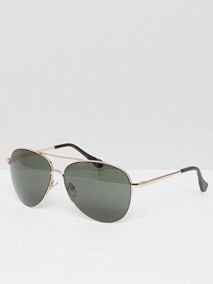 Solglasögon - AJ Morgan Aviator Sunglasses In Gold