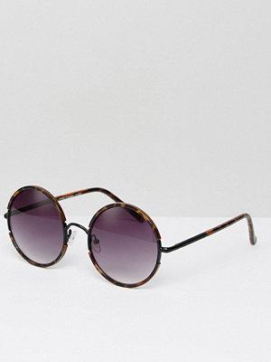 Solglasögon - 7X Round Sunglasses With Dark Tinted Lens