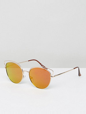 Jeepers Peepers Gold Frame Tinted Lens Sunglasses