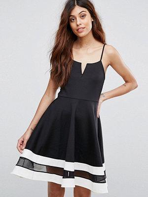 Be Jealous Skater Dress With Contrast Hem