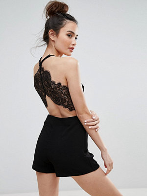 Jumpsuits & playsuits - Pull&Bear Lace Back Detail Playsuit