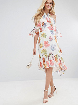 ASOS Extreme Tiered Floral Printed Midi Dress