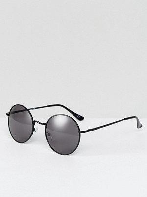 Solglasögon - ASOS Small 90s Metal Round Sunglasses
