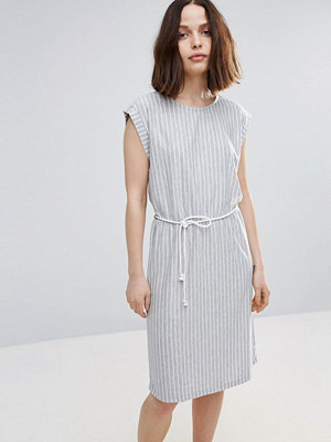 Soaked in Luxury Striped Skater Dress With Belt