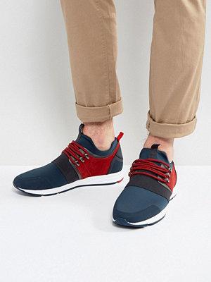Sneakers & streetskor - Hugo by Hugo Boss Neoprene Suede and Elastic Detail Trainers Blue
