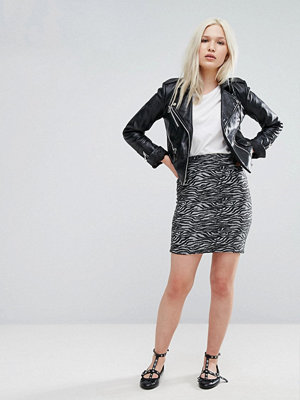 Kjolar - B.Young Zebra Mini Skirt