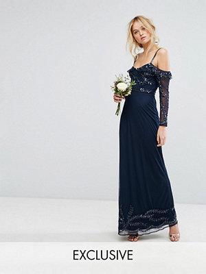 Maya Long Sleeve Cold Shoulder Maxi Dress