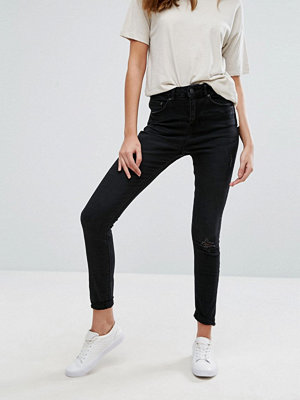 Only You Pearl high Waisted Rip Knee Jeans