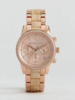 Michael Kors Rose Gold Ritz Chrono Watch