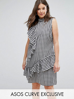 ASOS Curve Gingham Dress with Frill
