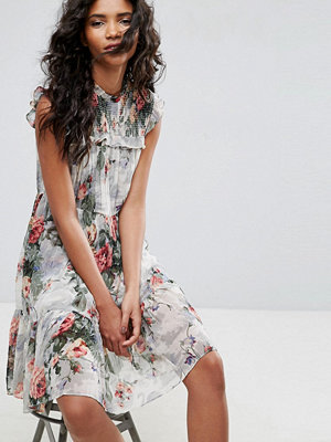 Needle & Thread Floral Print High Neck Midi Dress