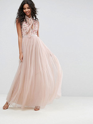 Needle & Thread Ditsy Bodice Gown - Petal pink