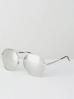 Solglasögon - Jeepers Peepers Aviator Sunglasses In Silver