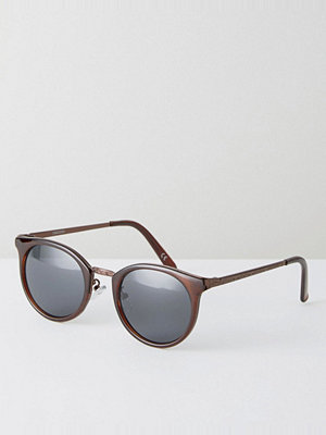 Solglasögon - ASOS Round Sunglasses In Brown With Gold Patterned Arms