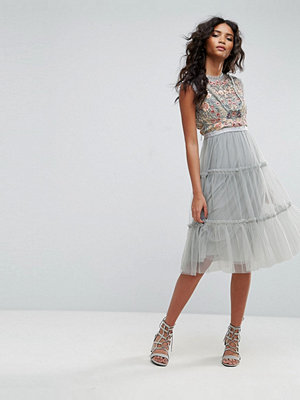 Needle & Thread Sundaze Embellished Tulle Midi Dress