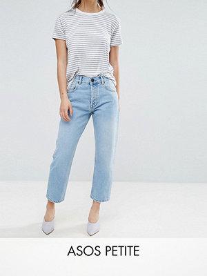 ASOS Petite Florence authentic Jeans med raka ben i mellanmörk Cambridge-färg ljusblå