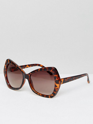 Jeepers Peepers Copper Tort Oversized Sunglasses