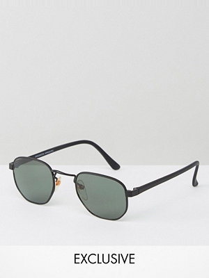 Solglasögon - Reclaimed Vintage Inspired Metal Round Sunglasses In Black