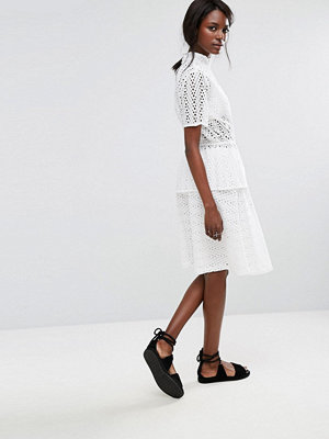 Selected Broderie Anglaise Skirt - Snow white