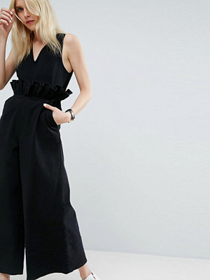 Jumpsuits & playsuits - ASOS Twill Jumpsuit with Ruffle Waist