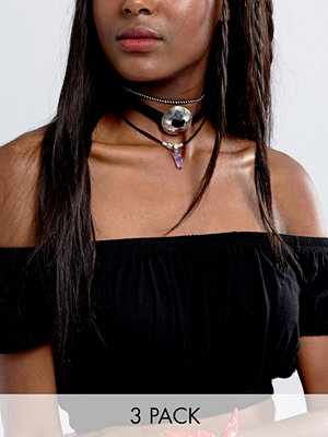 Chokers - ASOS Pack of 3 Festival & Shard Choker Necklaces