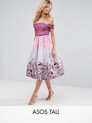 ASOS Edition ASOS TALL SALON Floral Ombre Midi Prom Dress