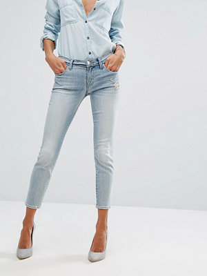 J Brand Low Rise Crop Skinny Jean with Abrasions