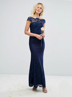 Chi Chi London Premium Lace Maxi Dress with Fishtail