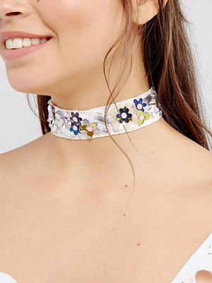 Chokers - ASOS 3D Flower Embelished Choker Necklace