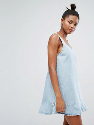 Monki Flip Hem Denim Dress