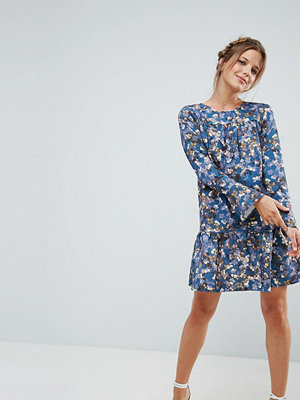 Closet London Closet Floral Pephem Dress - Teal multi
