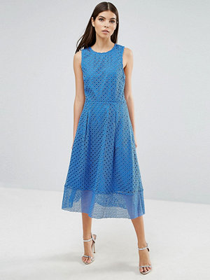 Warehouse Occasion Skater Dress With Sheer Skirt Layer