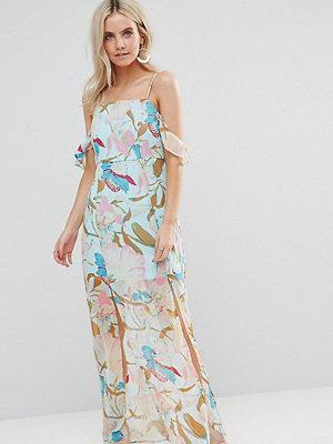 Boohoo Petite Cold Shoulder Double Split Maxi Dress