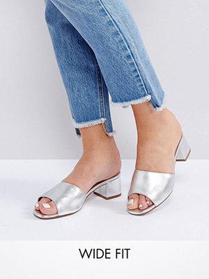 Sandaler & sandaletter - New Look Wide Fit Metallic Heeled Mule Sandals
