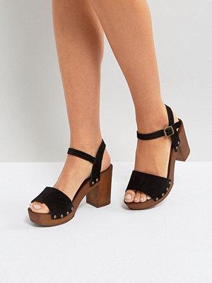 Sandaler & sandaletter - New Look Suede 2 Part Block Heeled Sandal