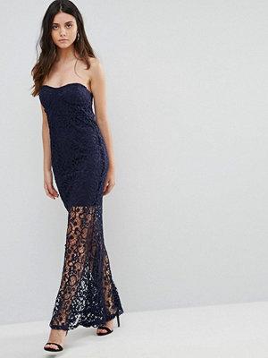 Liquorish Bandeau Lace Maxi Dress