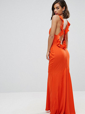 Jarlo Petite Ruffle Open Back Maxi Dress