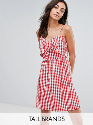 New Look Tall Gingham Tie Front Dress