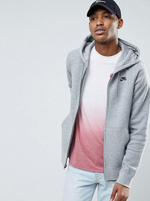 Street & luvtröjor - Nike Sb Icon Pullover Hoodie In Grey 800149-063