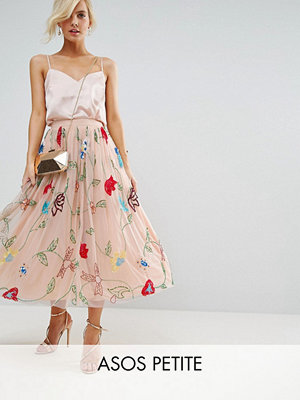 ASOS Petite Embellished Tulle Prom Midi Skirt