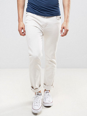 Jeans - Lee Rider Slim Fit Jeans Off White Wash