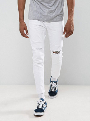 Jeans - Pull&Bear Skinny Carrot Fit Jeans In White